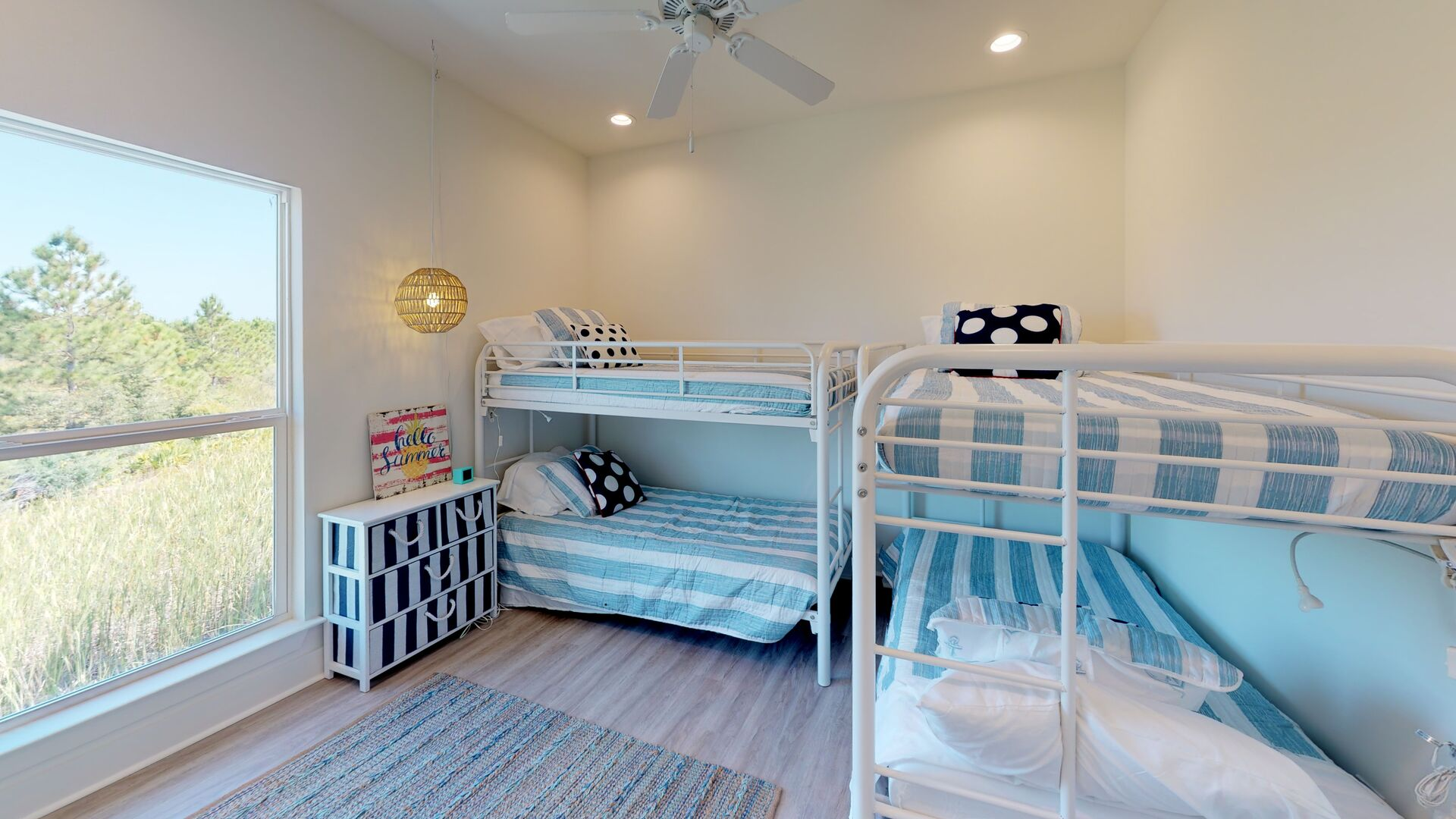 Bedroom 3 with two Twin Bunk Beds