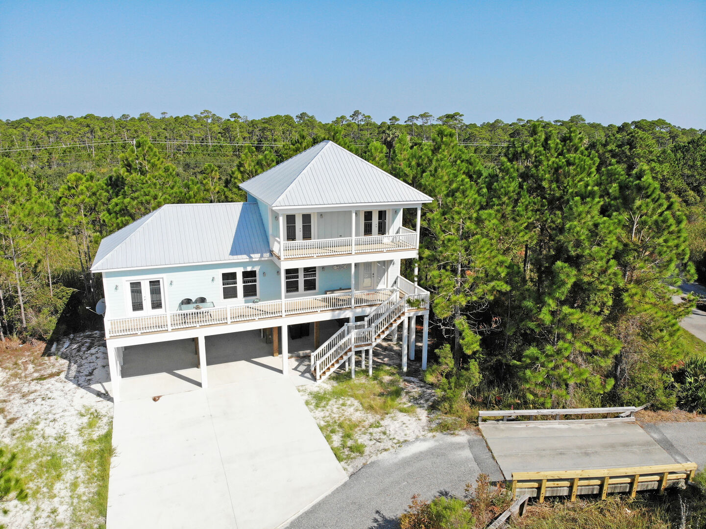 Aerial Picture of our Gulf Shores Home Rental.
