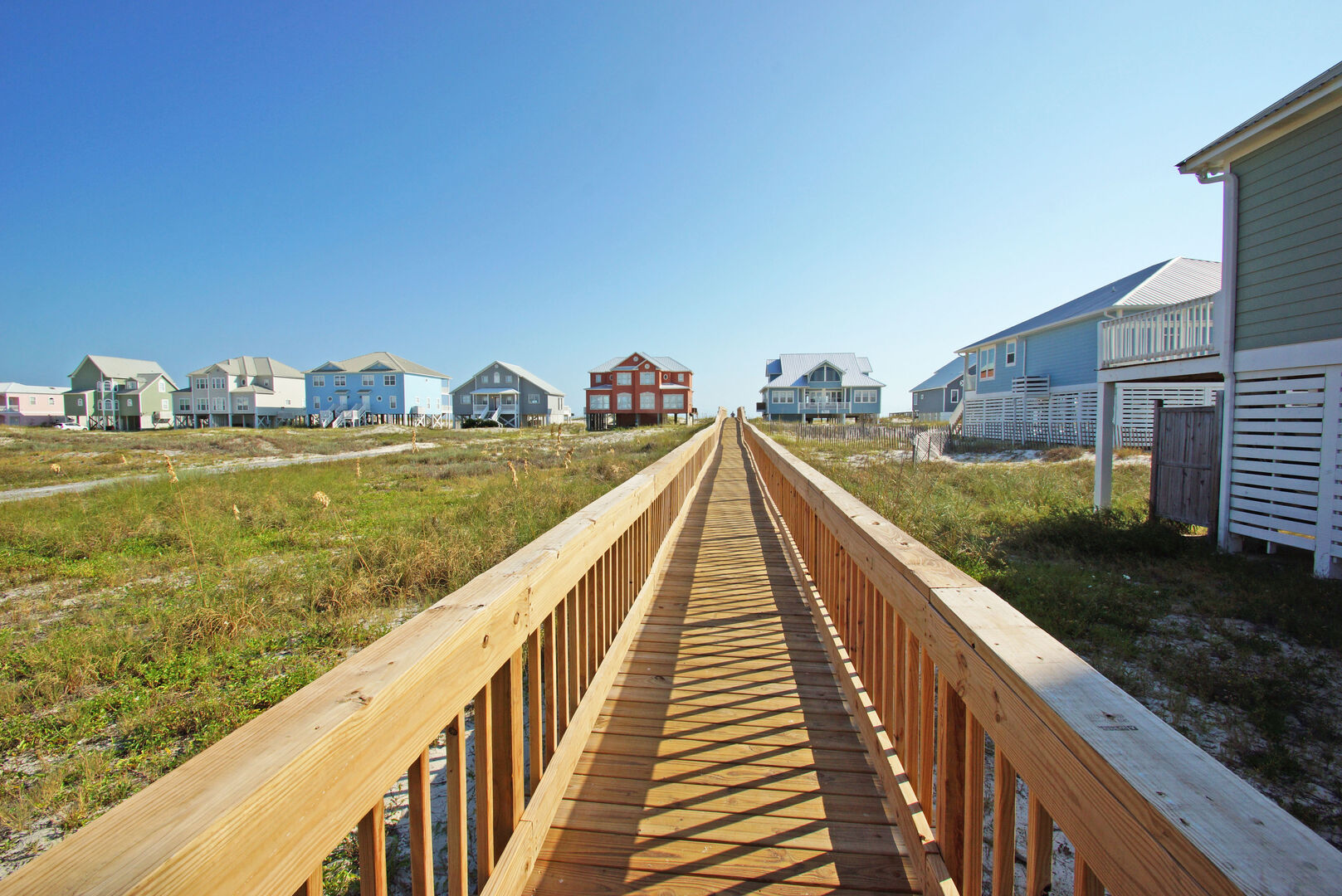 Beach Access by Wood Pathway.