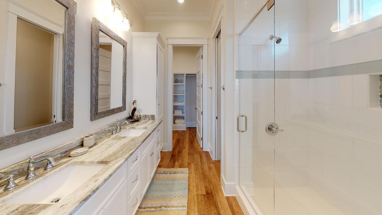 Designer master bath with walk in shower
