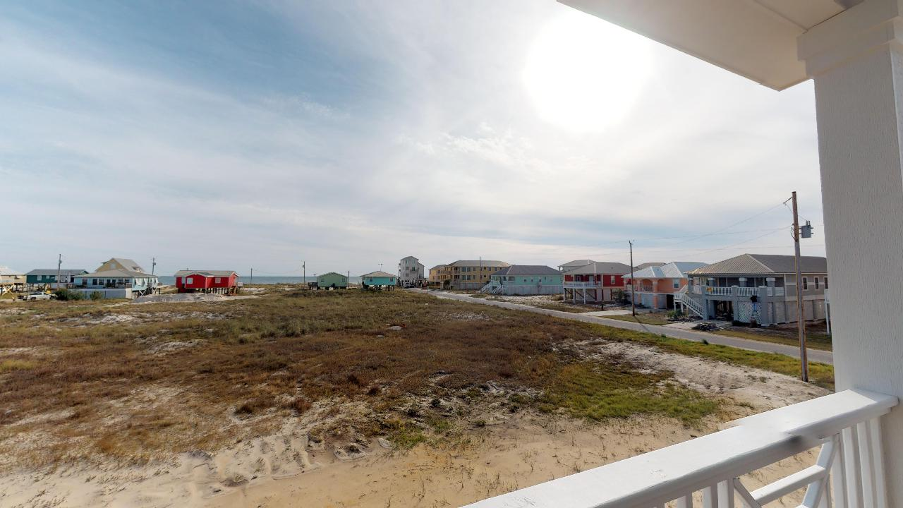 Gorgeous views from the porch of this Gulf Shores cottage rental