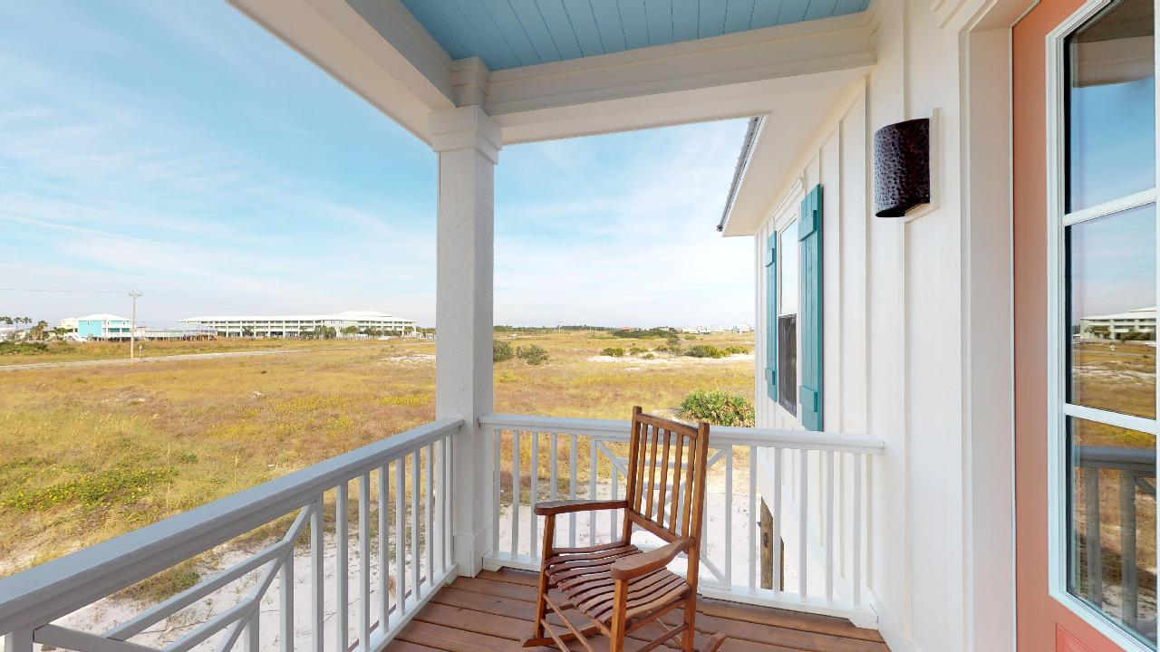 Views from the back porch of this Gulf Shores cottage rental