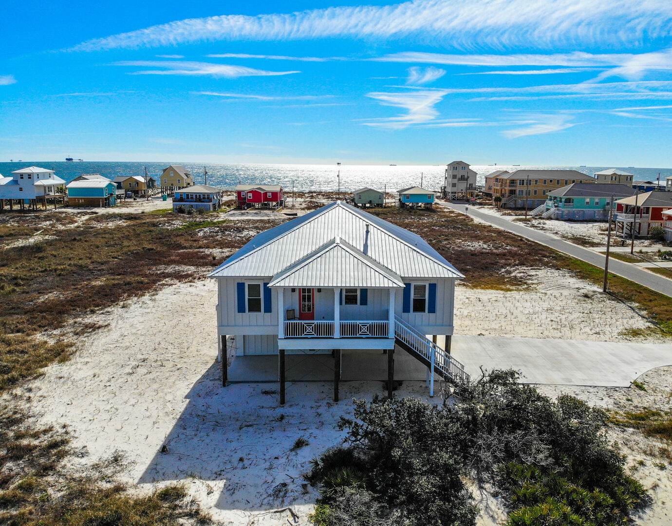 Gulf Shores cottage rental viewed from above