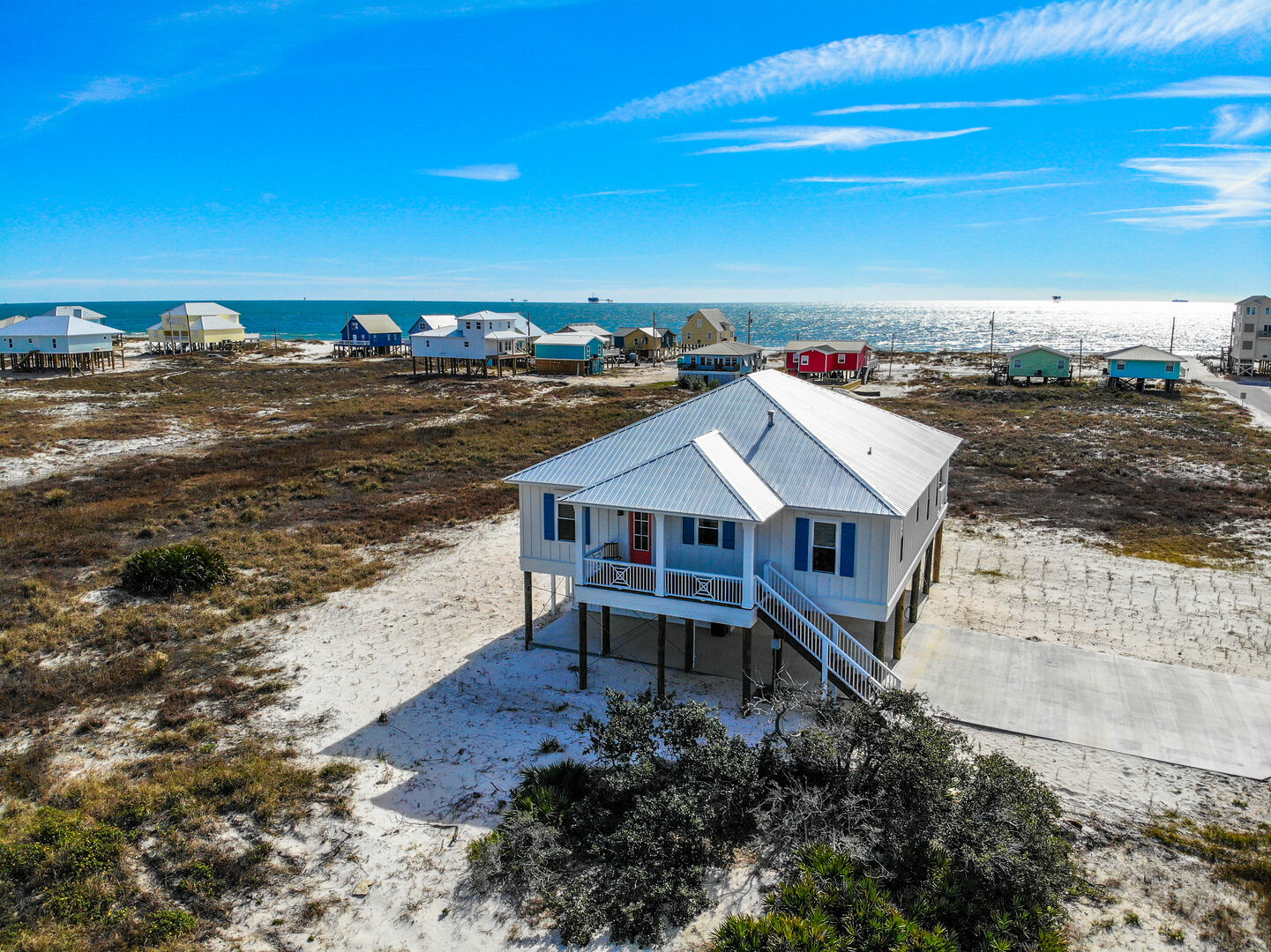 Gulf Shores cottage rental aerial view