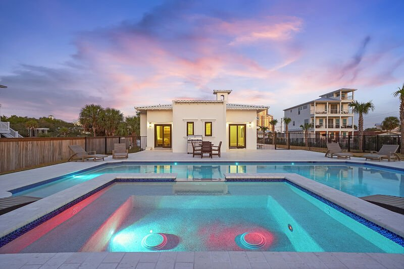 View of this Miramar Vacation Rental from the pool
