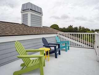Roof top  deck seating area