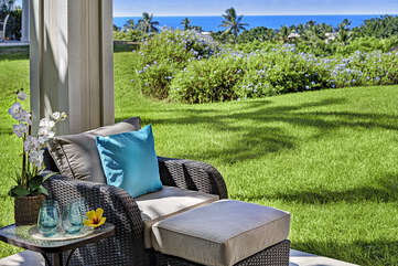 Relax and unwind on the private lanai