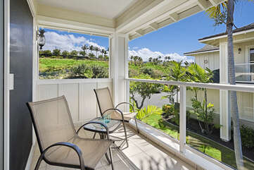 Enjoy morning coffee from the master bedroom lanai