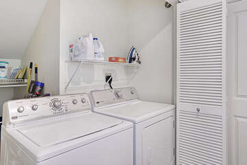 Full sized washer/dryer for your convenience