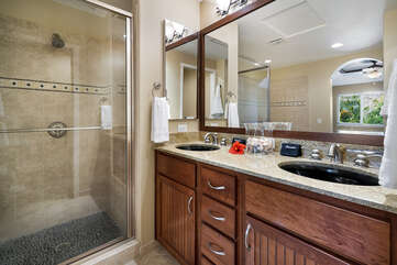 Master bath includes shower with sepereate bath tub