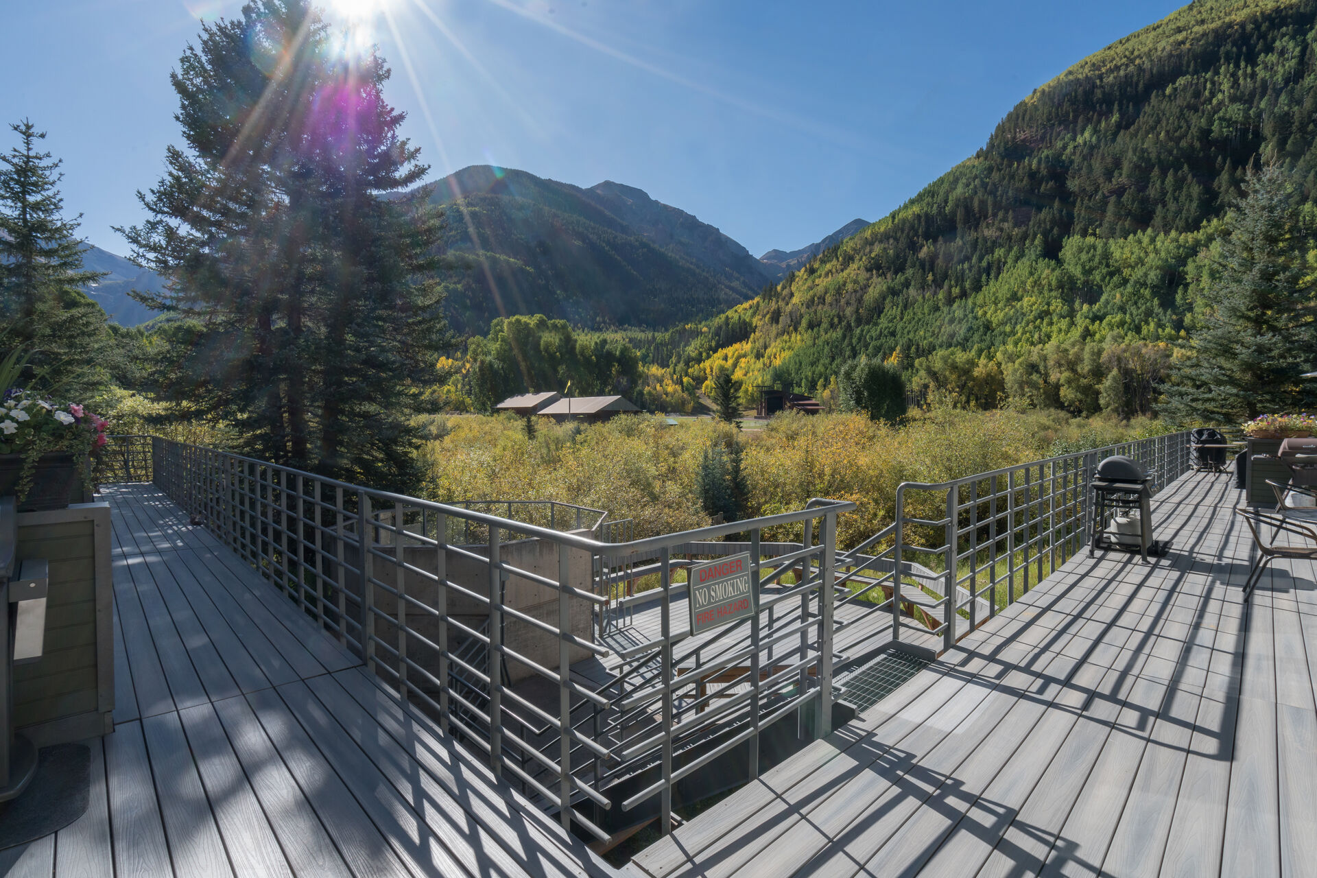 Views of the surrounding area from the deck of this Telluride condo.