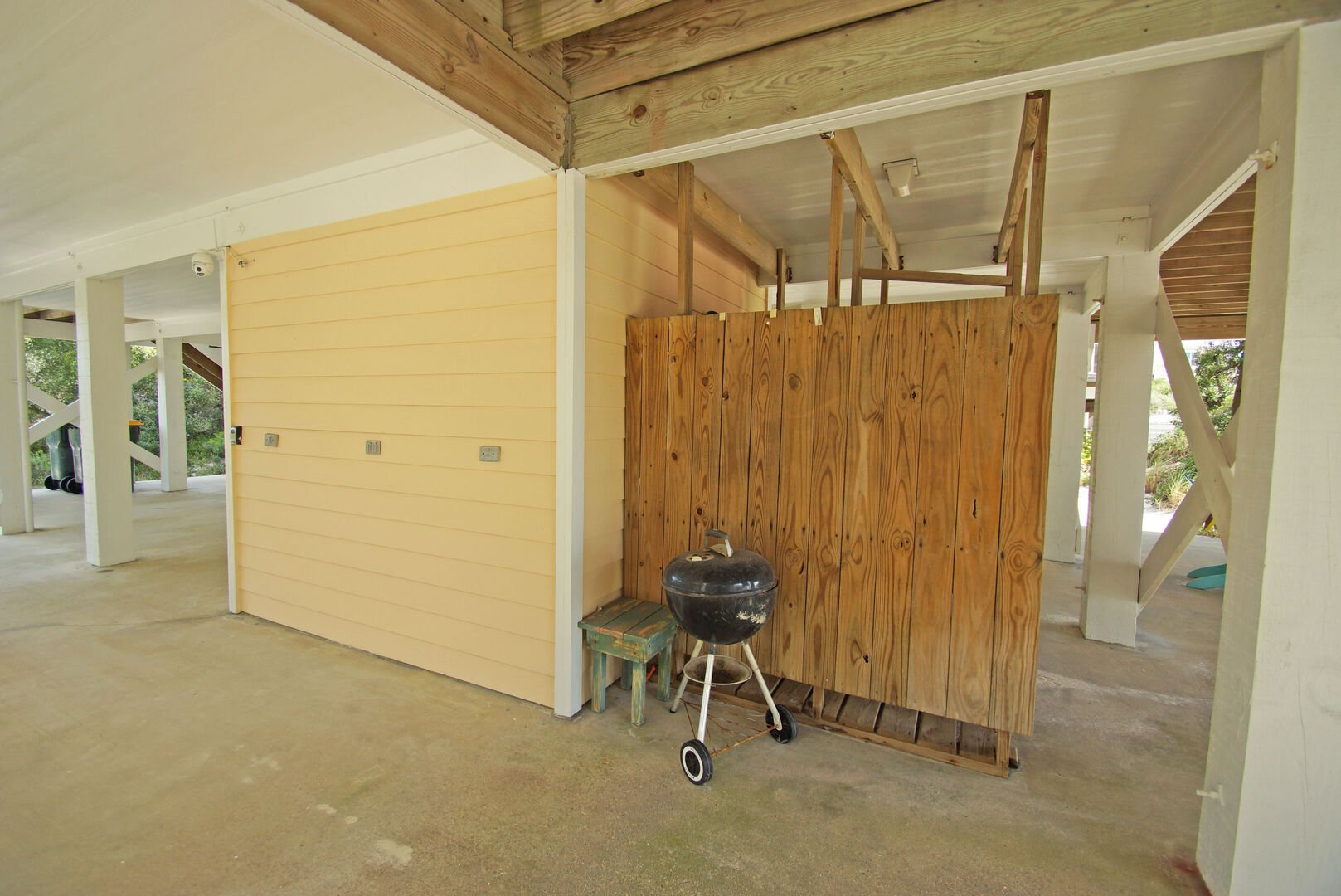 Vacation Rental Featured a Charcoal Grill.