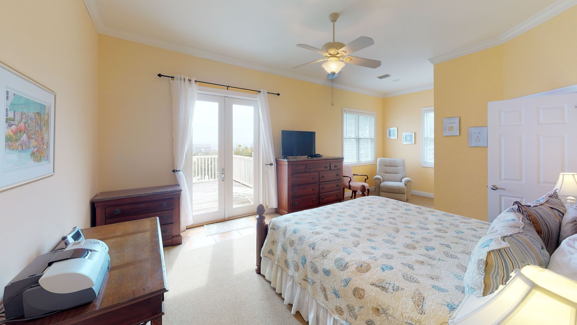 Master Bedroom Offers Views and Deck Access.