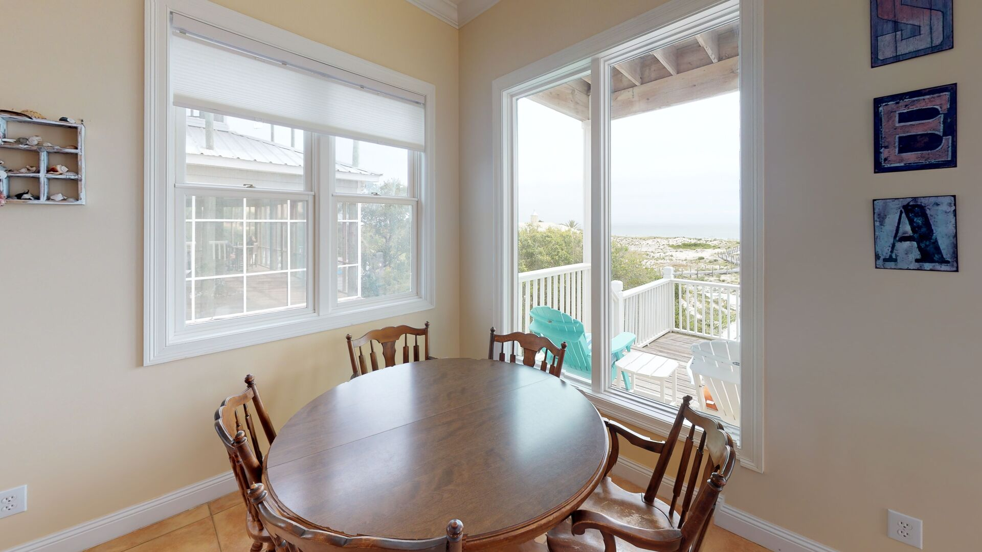 Windows Offer Plenty of Natural Light in Dining Room.