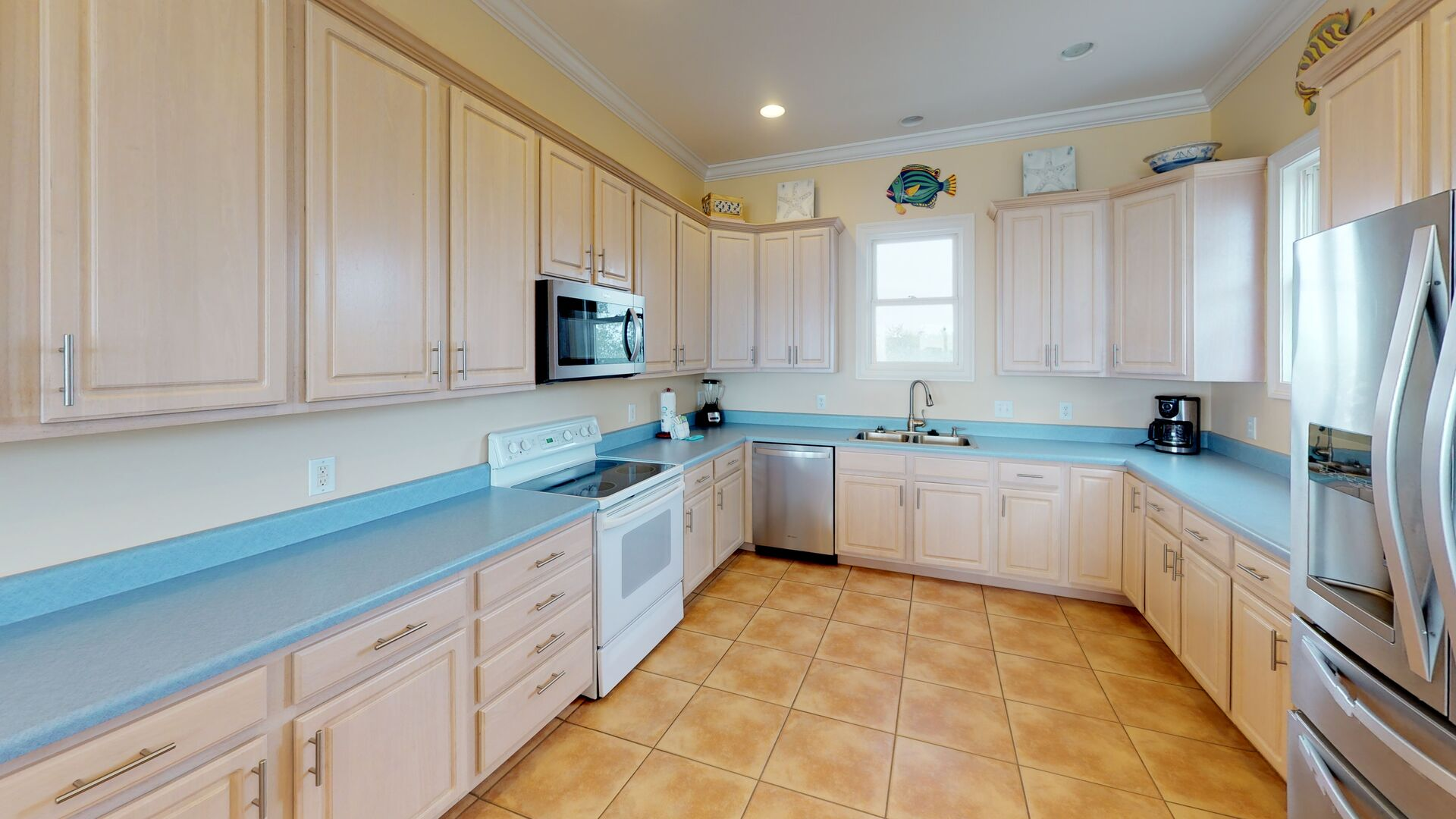 An Image of Beautiful Kitchen in Pet Friendly Gulf Shores Vacation Rental.