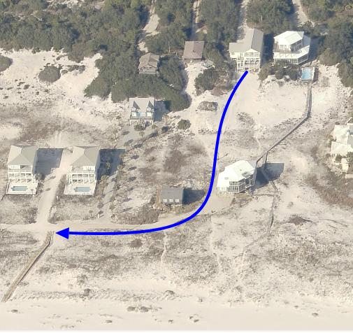 An Image of Beach Access Map.
