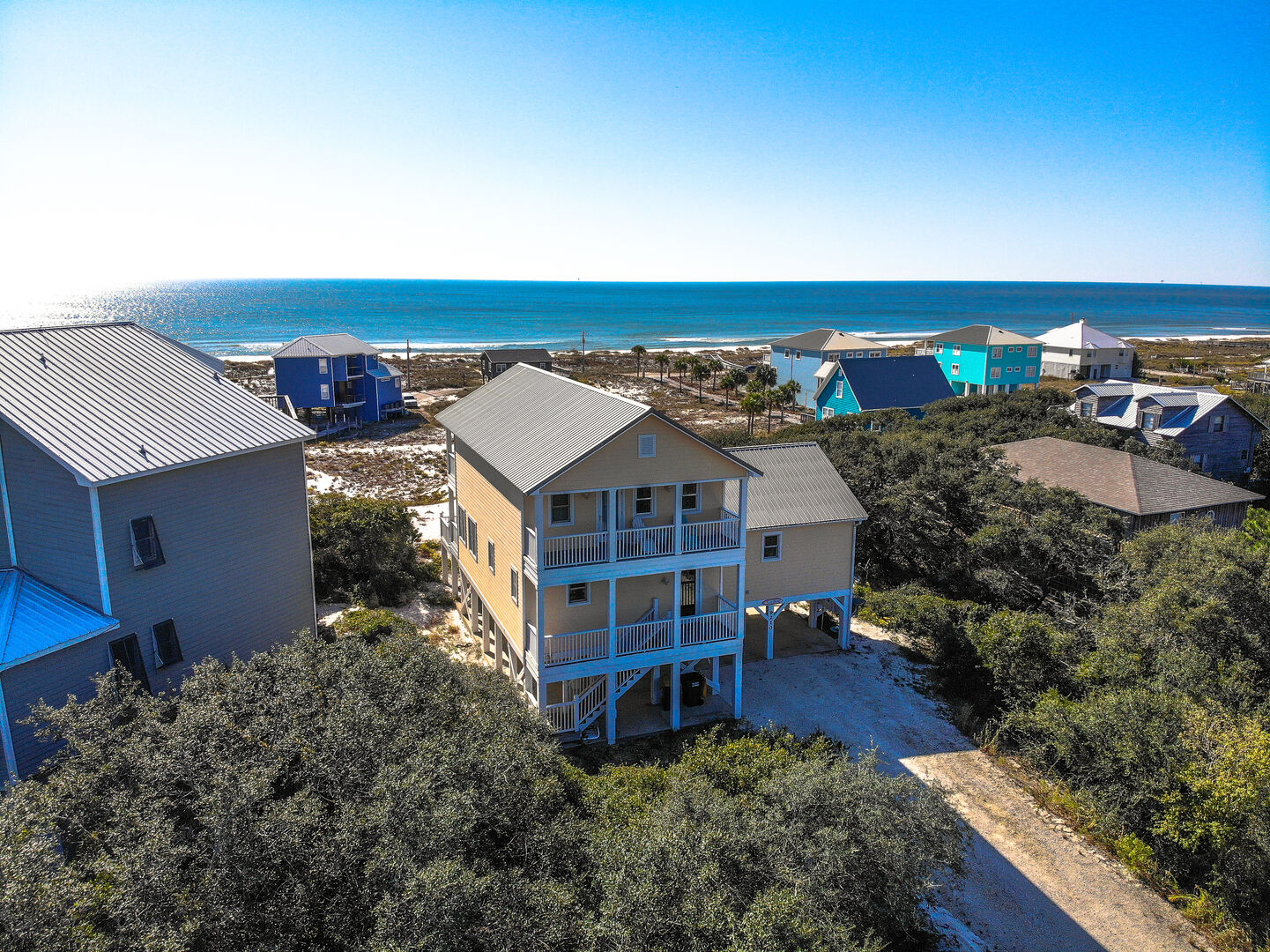 A Bird's Eye View of Pet Friendly Gulf Shores Vacation Rental.