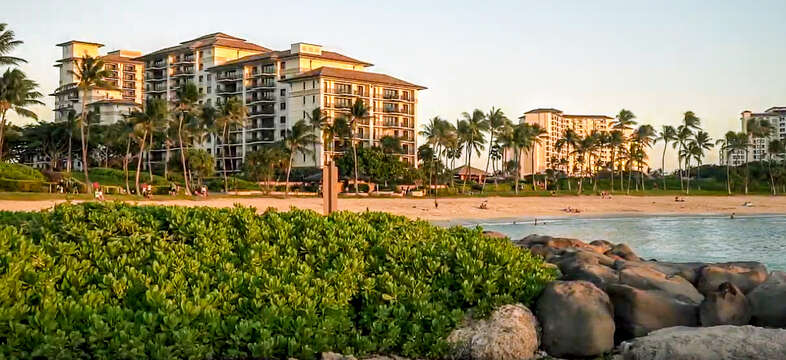 Beach Villas at Ko Olina from Lagoon 2