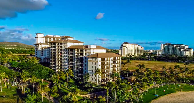 Aerial View of Beach Villas at Ko Olina