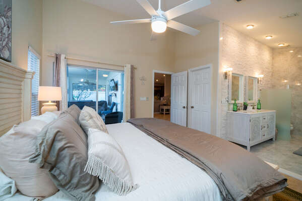 master suite is open to the master bath