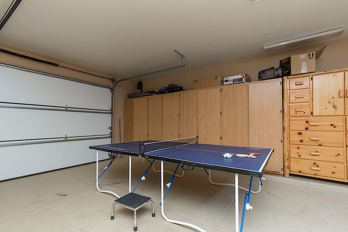 Ping Pong table in garage