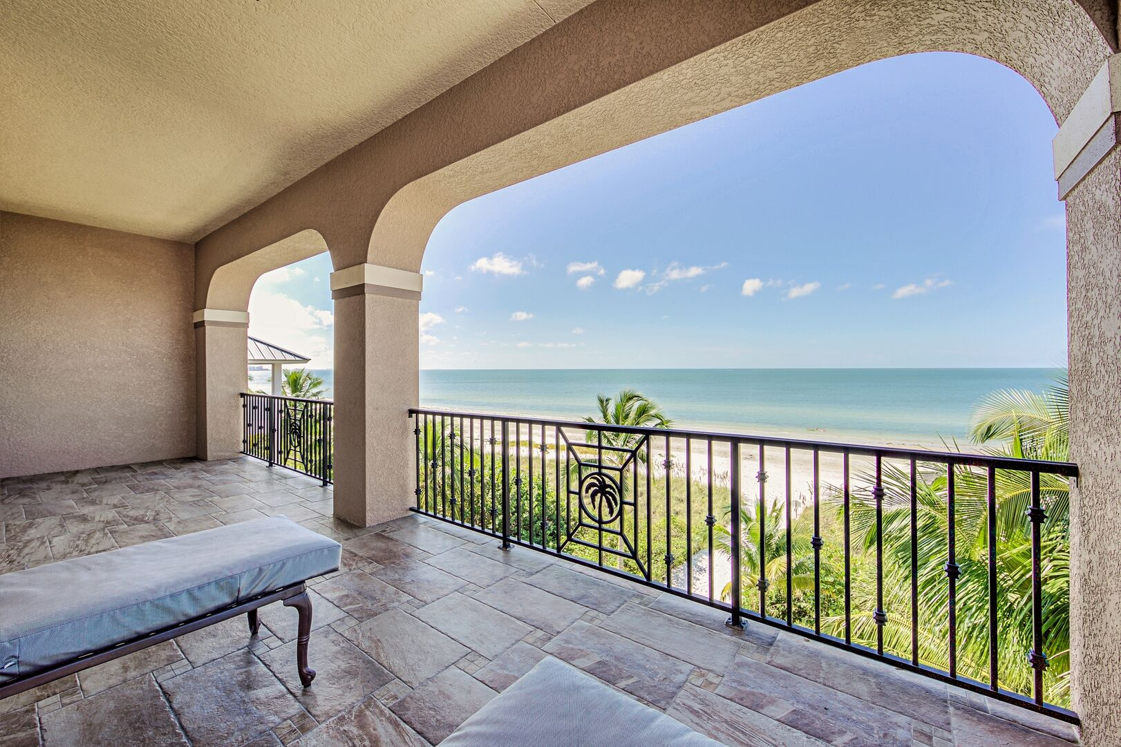 The House Balcony with Views of the Gulf.