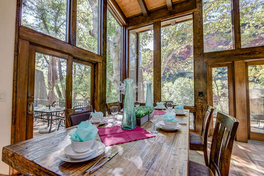 Dining Area with Peaceful Views and Outdoor Access