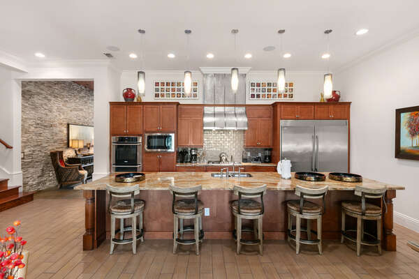 The kitchen is fully equipped with everything you need to cook a delicious meal
