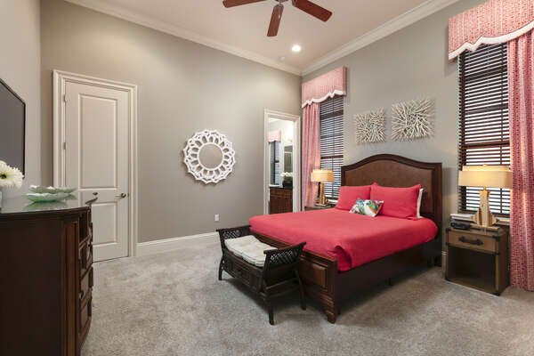 Take a nap in between the day`s festivities in this suite with a queen bed
