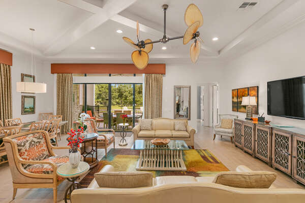 Stay cool with the dual ceiling fans