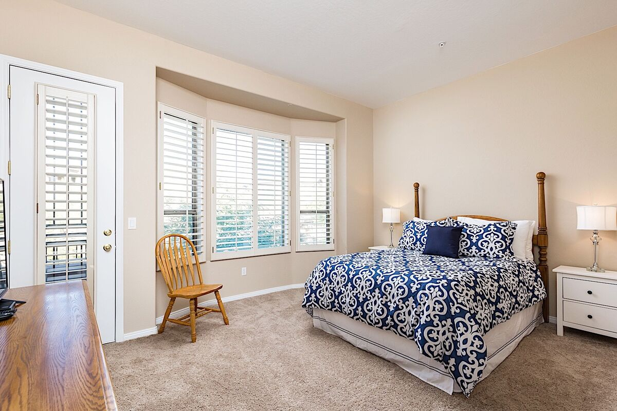 Nice and bright master bedroom with queen bed