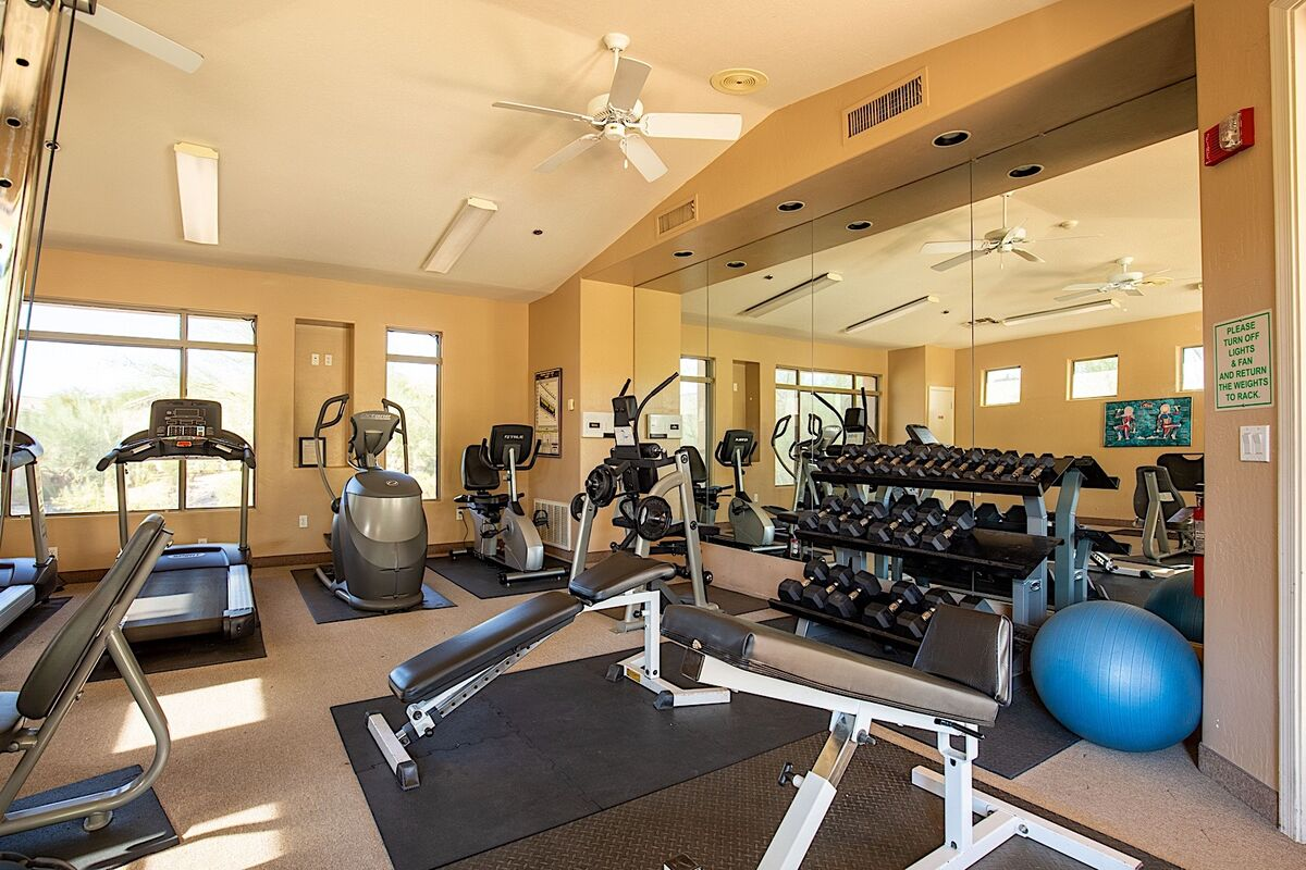 Cardio equipment and free weights