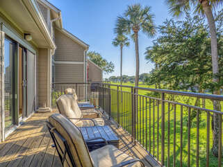 Enjoy the golf course views from the deck!