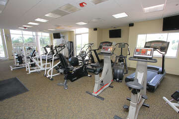 Community offers a fitness center