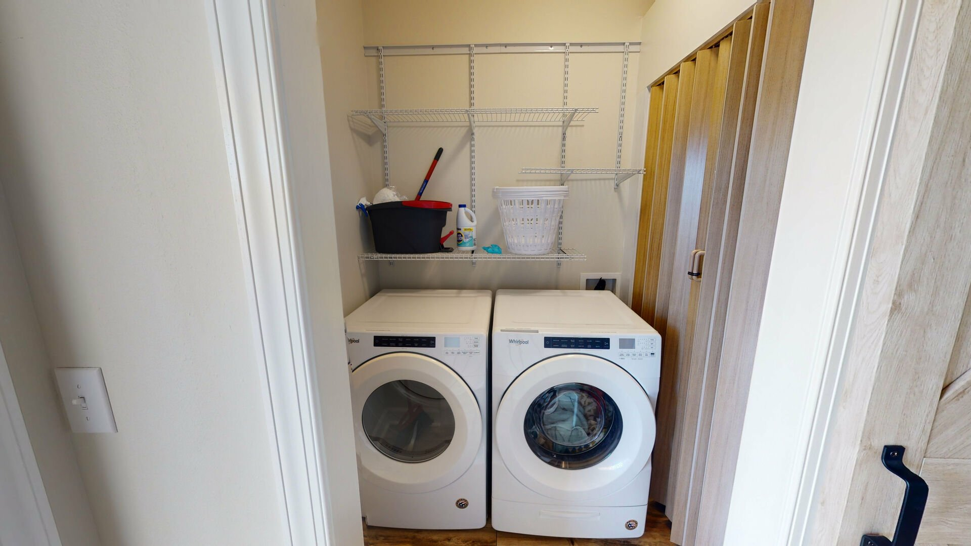 Washer and dryer on the main level of the home
