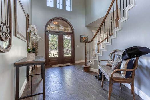 Stunning Double Door Entrance into This Completely Remodeled Home