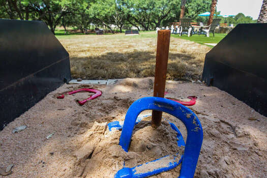 Take in a Game of Horseshoes