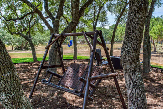 The Wine Dive - Natural Oak Tree Covering with a Swing, Fire Pit and Chairs - Perfect Spot for a Wine Tasting