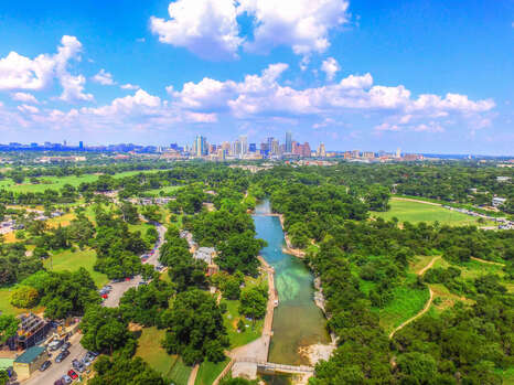 Aerial View of DT Austin
