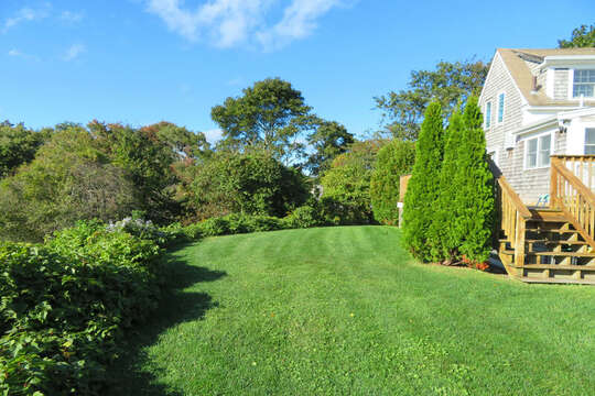 Enjoy the private backyard - Fire pit to be added for the Summer season! 60 Sisson Road Harwich Port Cape Cod New England Vacation Rentals