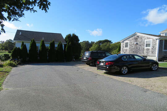 There is a guest house at the end of the driveway that is not included in the rental. There are 4 Parking spaces for the Farmhouse! 60 Sisson Road Harwich Port Cape Cod New England Vacation Rentals