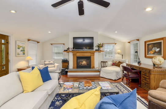 Living room with flat screen TV-60 Sisson Road Harwich Port Cape Cod New England Vacation Rentals