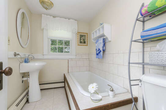 Bath off hall on 2nd floor-60 Sisson Road Harwich Port Cape Cod New England Vacation Rentals