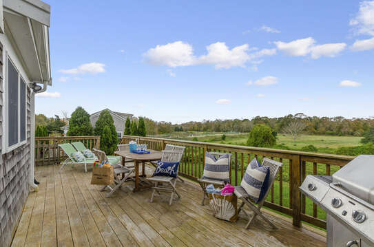 Large Back deck with outdoor furniture -gas grill- outdoor shower as well ( not enclosed) 60 Sisson Road Harwich Port Cape Cod New England Vacation Rentals