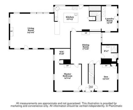 Floor plan level one-60 Sisson Road Harwich Port Cape Cod New England Vacation Rentals