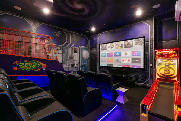 Feel out of this world in the private home theater with a 135 projection screen