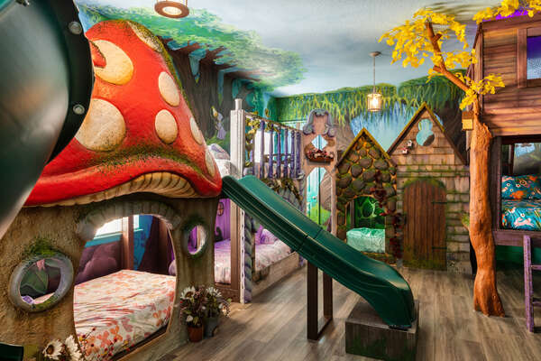 They can choose from 8 enchanting beds to sleep in