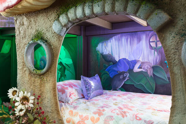 Each bed has a different mythical creature to watch over your children