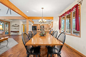Dining Area and Great Room in our Poconos Vacation Rental