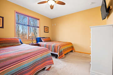 Two Bed Bedroom in our Poconos Vacation Rental